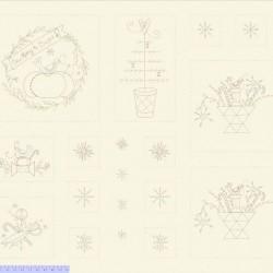 Sew Merry Panel (90cm) - CREAM