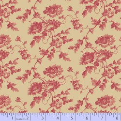 Antique Rose - BEIGE/RED
