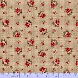 Rose Basket - FADED RED/BEIGE