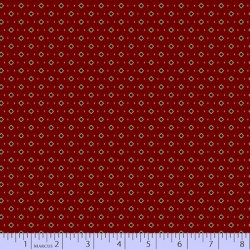 Ditsy Squares - RED