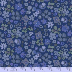 Small Floral - BLUE