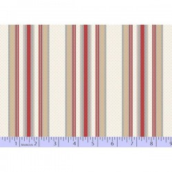 Dot Stripe - NATURAL/RED