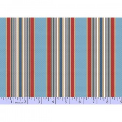 Dot Stripe - BLUE/RED