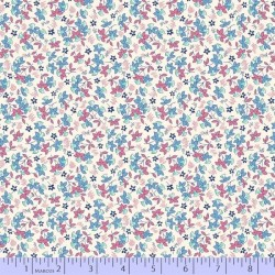 Tossed Flowers - BLUE