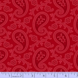 TONAL PAISLEY - RED