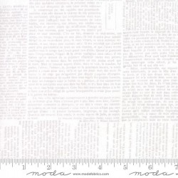 """108"""" Wideback Newsprint Text - WHITE"""