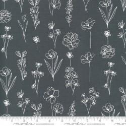 Floral Doodle - GRAPHITE