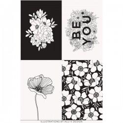 Panel  - Paper & Ink Canvas 90cm - MULTI