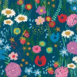 WILDFLOWERS RAYON - TEAL