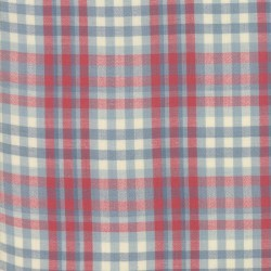 SILKY PLAID - BLUE/RED