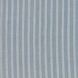 SILKY PLAID STRIPE- MED BLUE