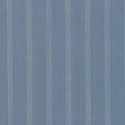 SILKY PLAID STRIPE - MED BLUE