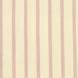 SILKY PLAID STRIPE- IVORY/RED