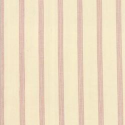 SILKY PLAID STRIPE- IVORY/RED
