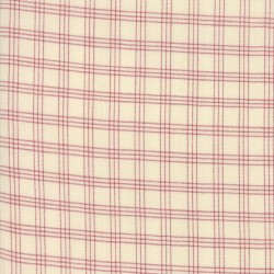 SILKY PLAID - IVORY/RED