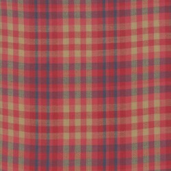 SILKY PLAID - RED/TAN
