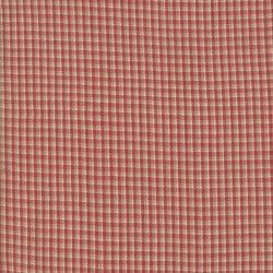 SILKY PLAID - RED/TAN