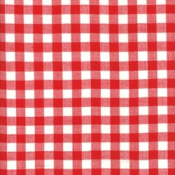 CHECK WOVEN - RED