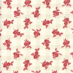 GINGHAM ROSE - CREAM/RED
