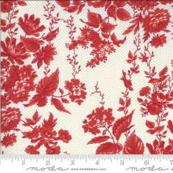 Floral - TAUPE/RED