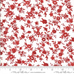 Flower Vine - CREAM/RED