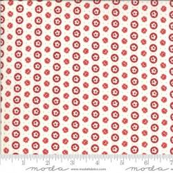 Circle Dot - IVORY/RED