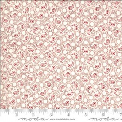 Paisley - IVORY/RED