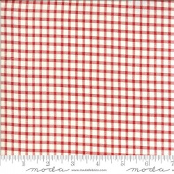 Gingham - IVORY/RED