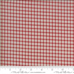 Gingham - TAUPE/RED