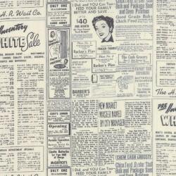 Modern BG Paper - Newsprint- BLACK EGGSHELL