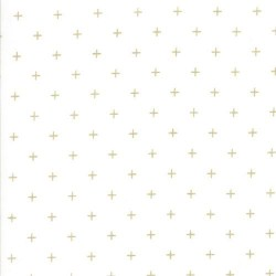 Moda Zen Chic Modern Background Luster Metallic Scales Fabric in White 1613-11M