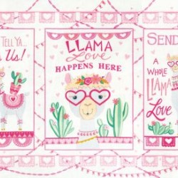 Llama Love Panel (60cm) - SNOWY WHITE