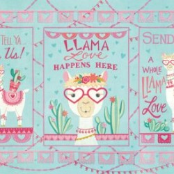 Llama Love Panel (60cm) - AQUA MINT