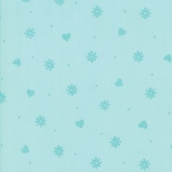 Hearts & Flowers - AQUA MINT