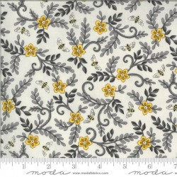 Flower Vines and Bees - DOVE GREY