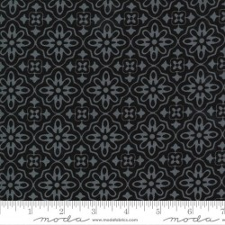Flower Tile - TONAL MIDNIGHT