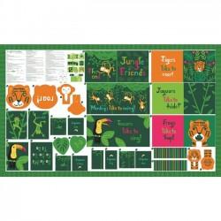 Book Panel - Jungle Paradise 90cm - MULTI