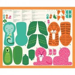 Panel - Stuffed Animal 90cm - MULTI