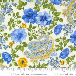Flowers And Paisley - IVORY