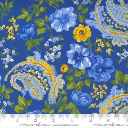 Flowers And Paisley - ROYAL/MULTI