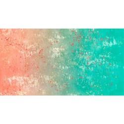 Gradient Splatter - ORANGE/AQUA