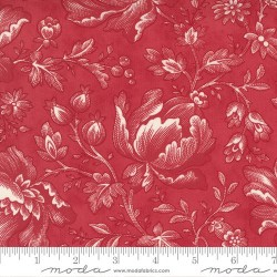 Floral Berry Toile - CRANBERRY