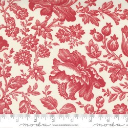 Floral Berry Toile - CREAM/CRANBERRY