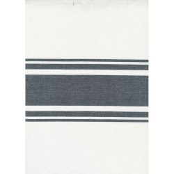 """18"""" Cotton Toweling - OFF WHITE/BLACK"""