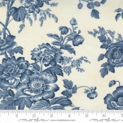"""108"""" Wideback Cotton Sateen Garden Blooms - CLOUD/HARBOR"""