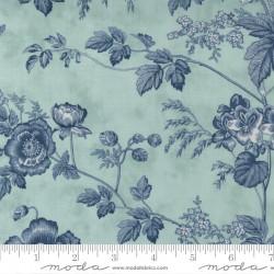 """108"""" Wideback Cotton Sateen Garden Blooms - SKY"""