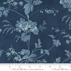 """108"""" Wideback Cotton Sateen Garden Blooms - HARBOR"""
