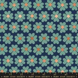Heart Flowers - NAVY