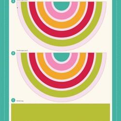 "Rainbow Zipper Pouch Panel (16""x13.5"")"