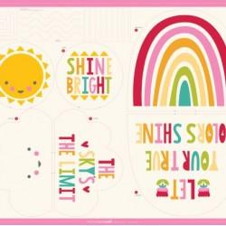 "Sunshine, Rainbow Pillow Panel (43""x43"")"